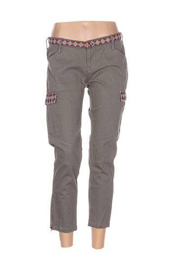christophe sauvat pantalons femme de couleur vert