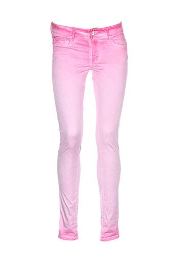 salsa pantalons femme de couleur rose