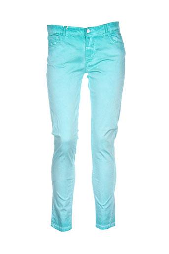ritchie pantalons femme de couleur vert