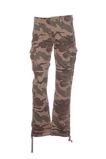 crossby pantalons et decontractes homme de couleur marron