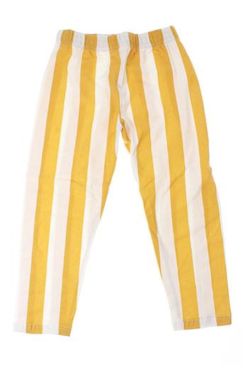 mad in sport pantalons fille de couleur jaune
