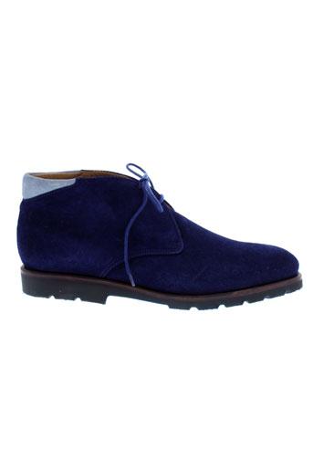 george's chaussures femme de couleur bleu