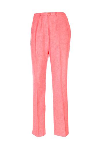 claude bauer pantalons femme de couleur orange