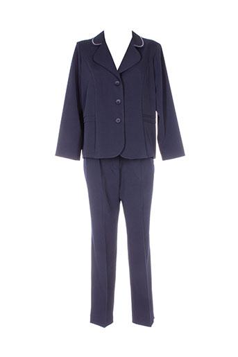20 et 20 pantalon et veste femme de couleur bleu (photo)