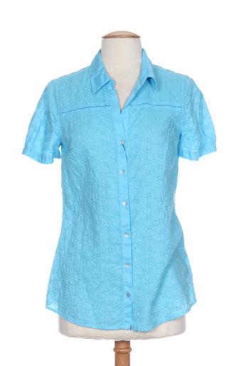 titazen blouses chemises femme de couleur bleu