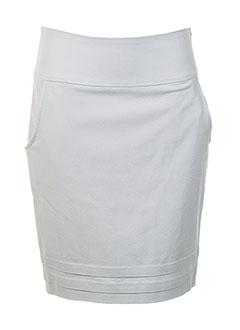 Jupe mi-longue gris HELENA SOREL pour femme