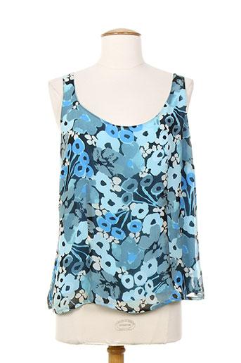 villa bleue chemises femme de couleur bleu