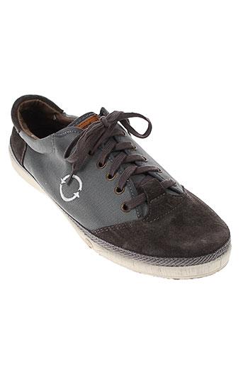 natural world chaussures homme de couleur gris