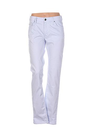 mustang pantalons et decontractes femme de couleur bleu