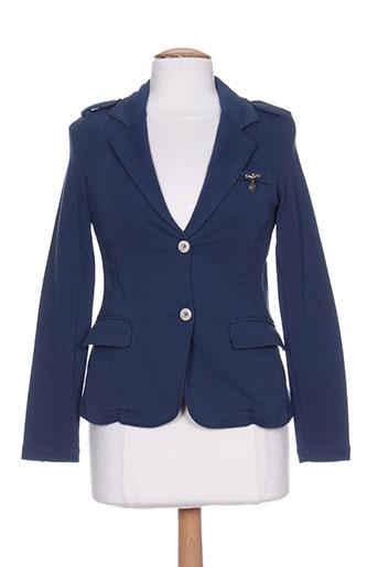 aeronautica vestes femme de couleur bleu