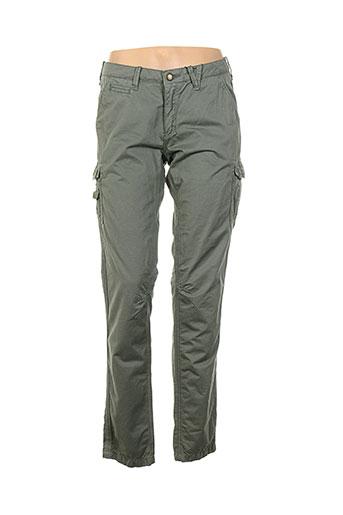 attract pantalons femme de couleur vert