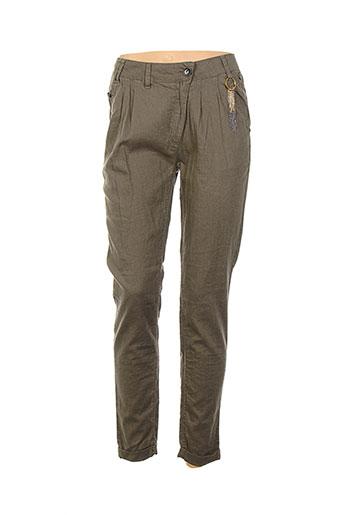 freeman t.porter pantalons femme de couleur vert