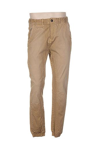 petrol industries pantalons homme de couleur beige