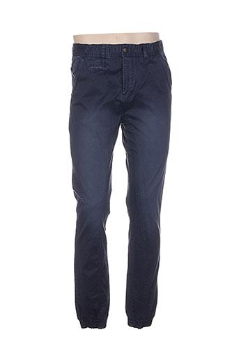 petrol industries pantalons homme de couleur bleu