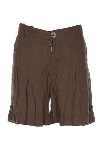 ddp shorts / bermudas fille de couleur vert