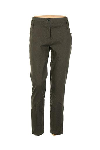 moloko pantalons femme de couleur marron