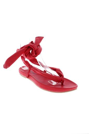 moloko chaussures femme de couleur rouge