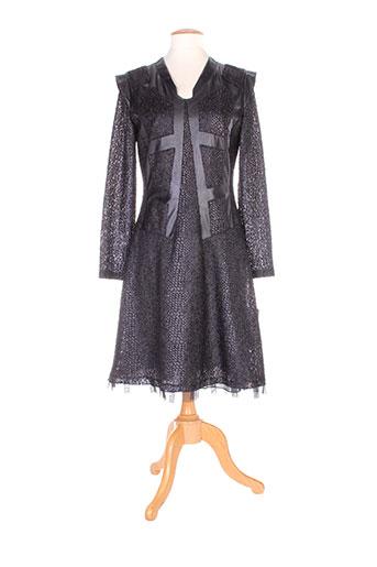 o.k.s robes femme de couleur noir