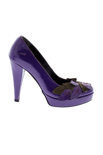bijou et de et pied escarpins femme de couleur violet