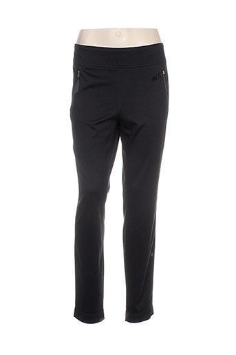 initiative pantalons femme de couleur noir