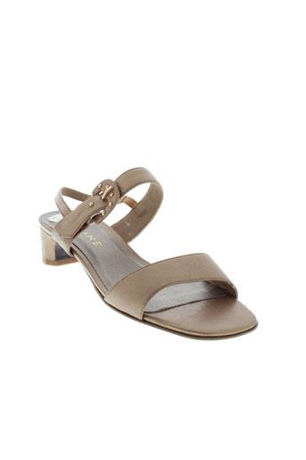 carline sandales et nu et pieds femme de couleur marron