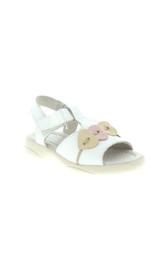 key et west sandales et nu et pieds fille de couleur blanc