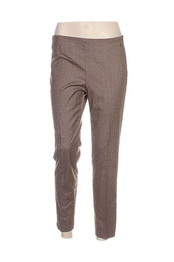 caractere pantalons femme de couleur marron