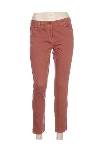 sessun pantalons femme de couleur rouge