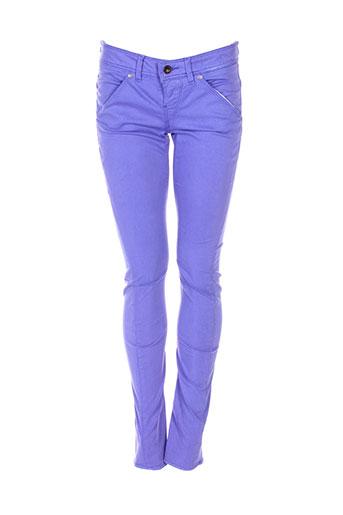 guess pantalons femme de couleur violet