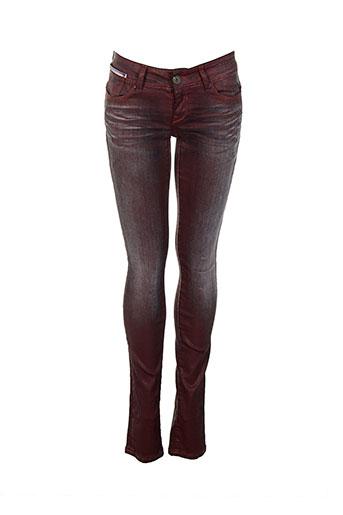 sixty et seven pantalons et decontractes femme de couleur rouge