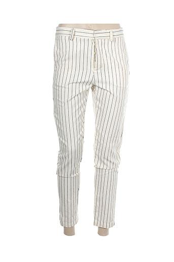 ottod'ame pantalons femme de couleur blanc