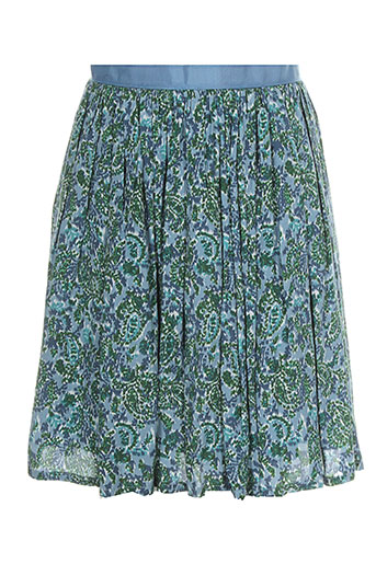 2 et two jupes et courtes femme de couleur bleu (photo)