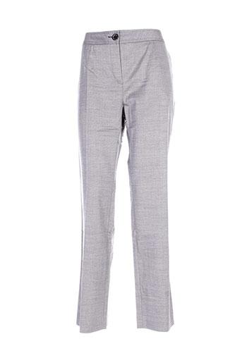 villa bleue pantalons femme de couleur gris