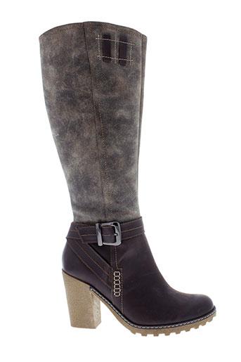 fugitive bottes femme de couleur gris