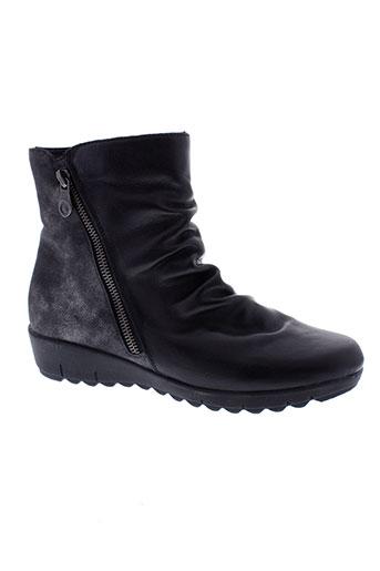 remonte boots femme de couleur noir