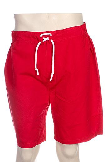 acqua et rossa short homme de couleur rouge