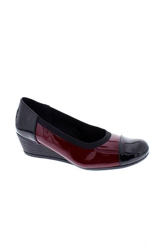 inea escarpins femme de couleur rouge