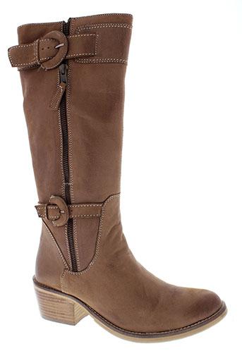 inea bottes femme de couleur marron
