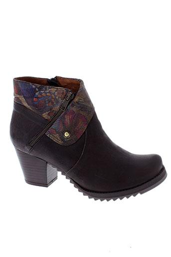 libre et comme et l et air boots femme de couleur marron
