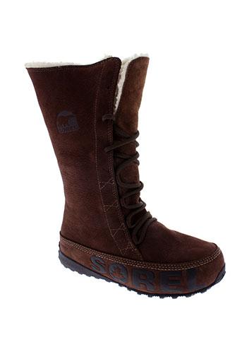 sorel bottes femme de couleur marron