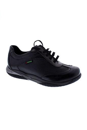 sano chaussures femme de couleur noir