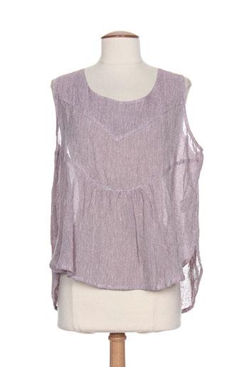 cannisse chemises femme de couleur violet