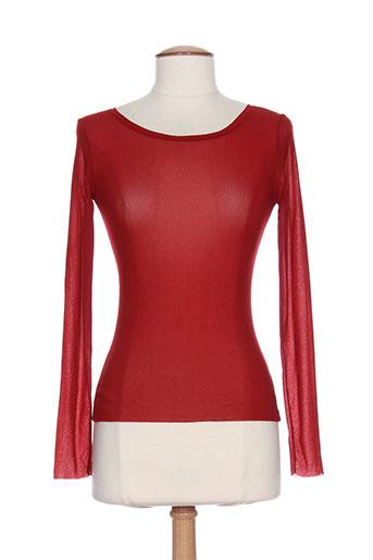 hybris chemises femme de couleur rouge