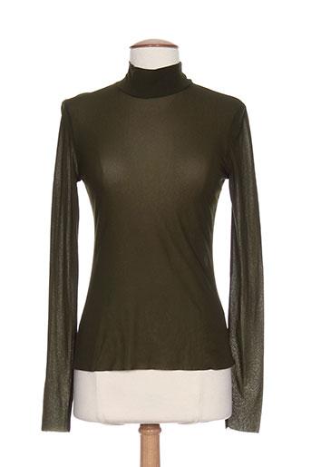 hybris chemises femme de couleur vert