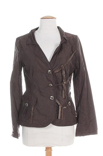 accostages vestes femme de couleur marron
