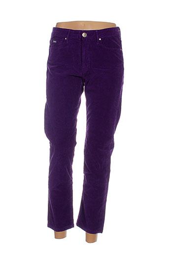 islow pantalons femme de couleur violet