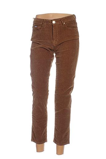 islow pantalons femme de couleur marron
