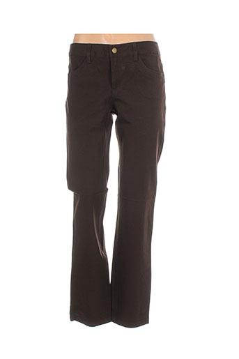 in wear pantalons femme de couleur marron