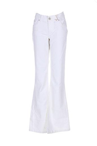 Pantalon casual blanc EN&VY pour femme