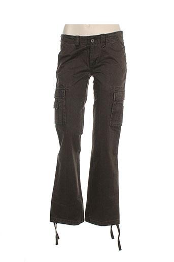 teddy et smith pantalons et decontractes femme de couleur marron
